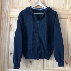 Vintage LisSport active ribbed knit hoodie Sz M